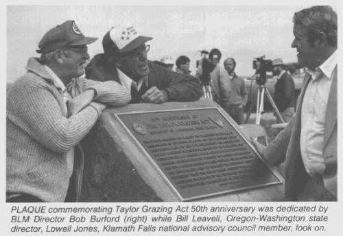 Taylor Grazing Act Plaque
